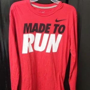 Red nike long sleeve size L